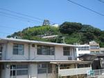 北口から見える尾道城?