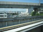 モノレールの高架橋跡が見えます…