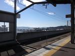 駅から見える瀬戸内海…